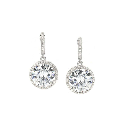 Anastasia 20 Earrings Diamond White - Anna Zuckerman Luxury Earrings