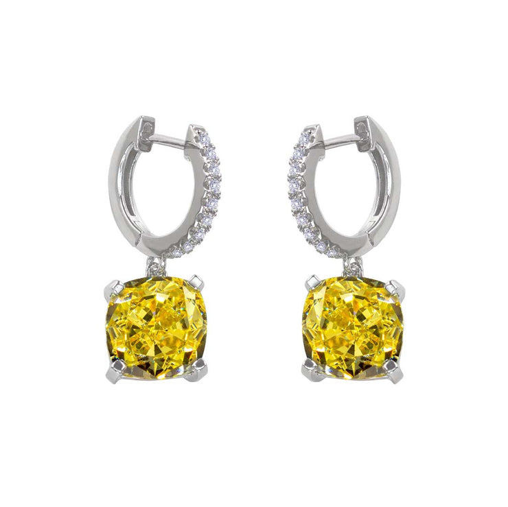 Anastasia 25 Huggie Drop Canary Yellow - Anna Zuckerman Luxury Earrings