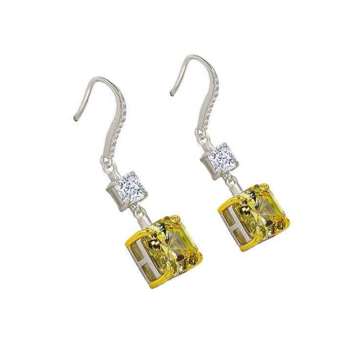 Arabella 11 Earrings Canary Yellow - Anna Zuckerman Luxury