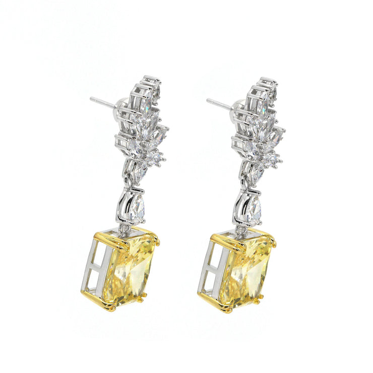 Diana 09 Earrings Canary Yellow - Anna Zuckerman Luxury Earrings
