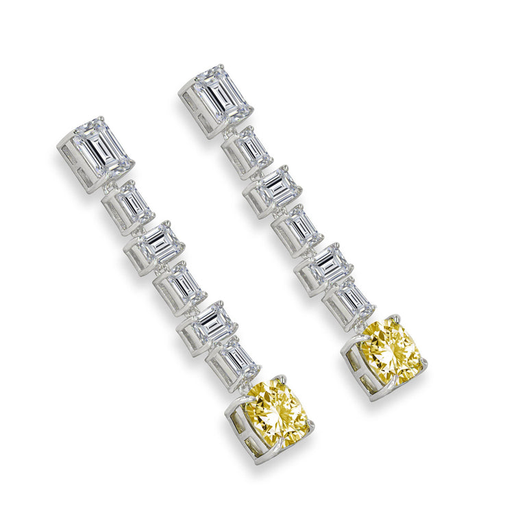 Diana 13 Earrings Canary Yellow - Anna Zuckerman Luxury