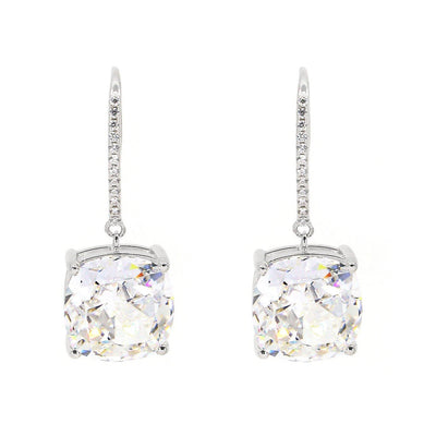 Diana 14 Earrings Diamond White - Anna Zuckerman Luxury Earrings