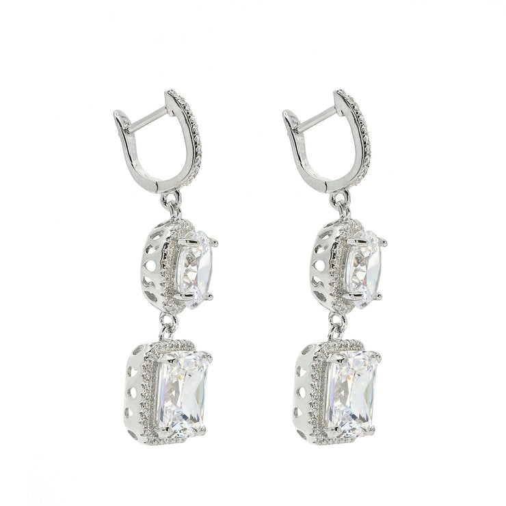 Diana 20 Earrings Diamond White - Anna Zuckerman Luxury Earrings