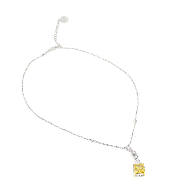 Diana 22 Necklace Canary Yellow - Anna Zuckerman Luxury