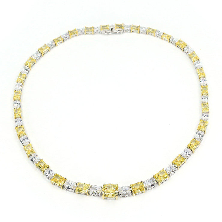 Diana 29 Necklace Canary Yellow - Anna Zuckerman Luxury Necklace