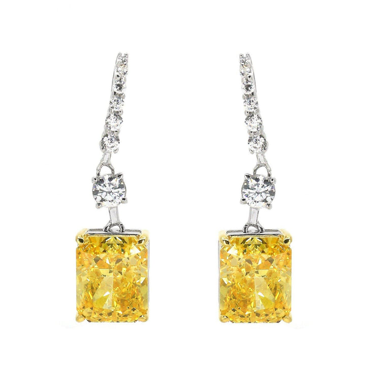 Diana 07 Earrings Canary Yellow - Anna Zuckerman Luxury Earrings
