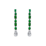 Elizabeth 09 Earrings Emerald Green - Anna Zuckerman Luxury