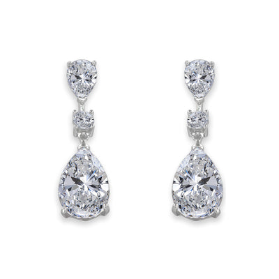 Elizabeth 17 Earrings Diamond White - Anna Zuckerman Luxury