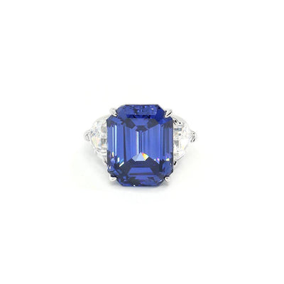 Grace 26 Ring Tanzanite Blue - Anna Zuckerman Luxury