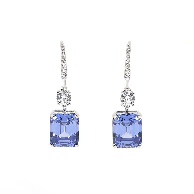 Grace 27 Earrings Tanzanite Blue - Anna Zuckerman Luxury Earrings