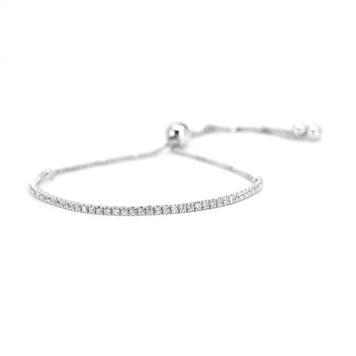 House of Zuckerman 41 Dainty Bolo White - Anna Zuckerman Luxury Bracelets
