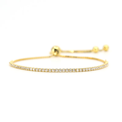 House of Zuckerman 42 Dainty Bolo Gold - Anna Zuckerman Luxury Bracelets