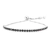 House of Zuckerman 45 Classic Bolo Black Zircon - Anna Zuckerman Luxury Bracelets