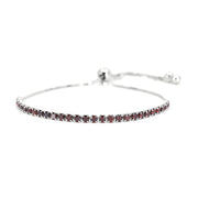 House of Zuckerman 46 Classic Bolo Red Garnet - Anna Zuckerman Luxury Bracelets