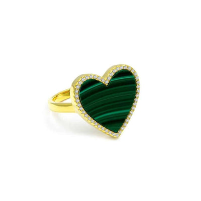 House of Cards Ring in Malachite - Anna Zuckerman Luxury Ring