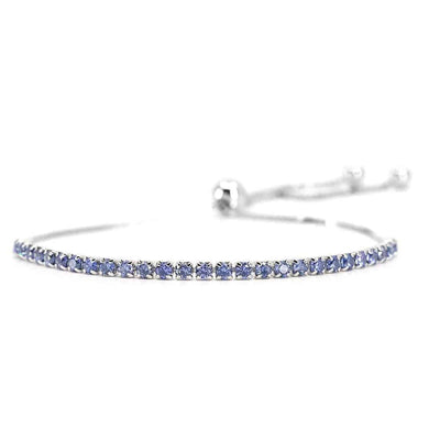 House of Zuckerman 59 Classic Bolo Tanzanite - Anna Zuckerman Luxury Bracelets