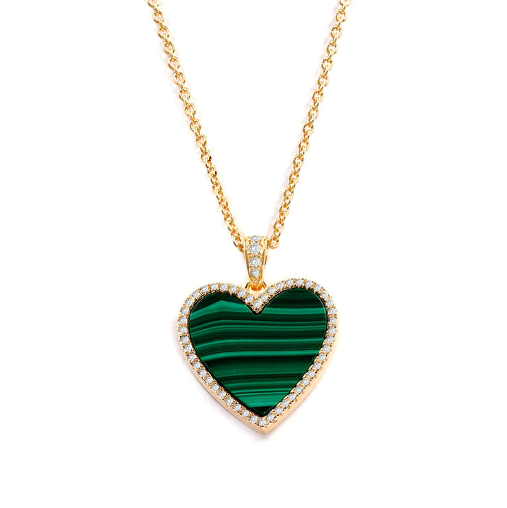 House of Cards Necklace in Malachite - Anna Zuckerman Luxury Necklace