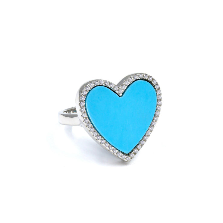 House of Cards Ring in Blue Turquoise