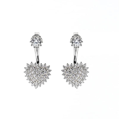 Olivia 37 Earring Diamond White - Anna Zuckerman Luxury Earrings