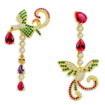 Olivia 07 Earrings Multicolor Gold - Anna Zuckerman Luxury Earrings