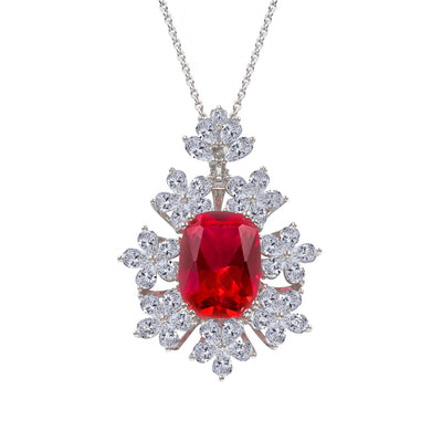 Olivia 17 Necklace Ruby Red - Anna Zuckerman Luxury