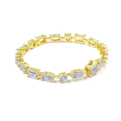 Olivia 19 Bracelet Diamond White Gold - Anna Zuckerman Luxury