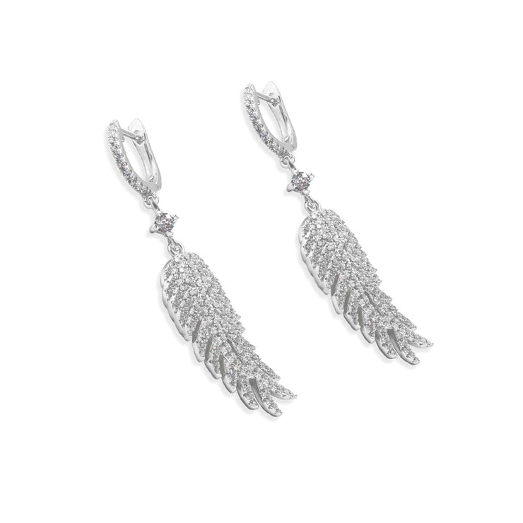 Olivia 26 Earrings Plume - Anna Zuckerman Luxury