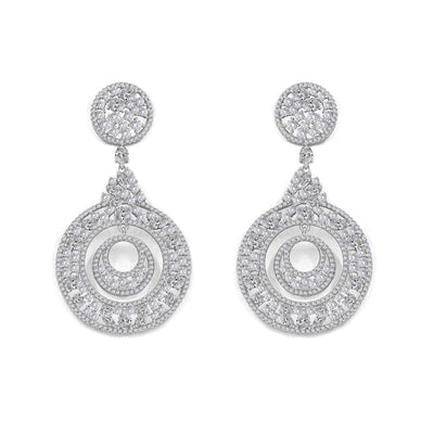Olivia 28 Earrings Diamond White - Anna Zuckerman Luxury