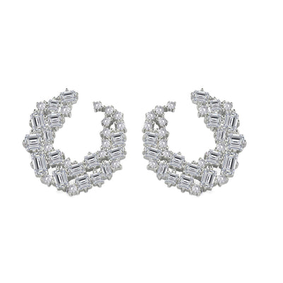 Olivia 29 Earrings Diamond White - Anna Zuckerman Luxury