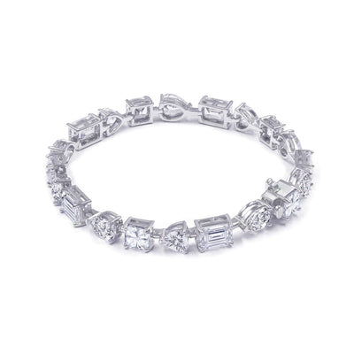 Olivia 31 Bracelet Diamond White - Anna Zuckerman Luxury