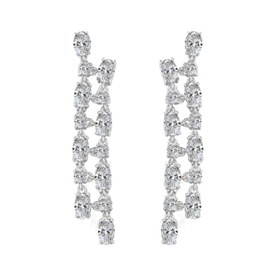 Olivia 32 Earrings Diamond White - Anna Zuckerman Luxury