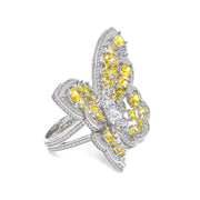 Olivia 02 Ring Canary Yellow - Anna Zuckerman Luxury
