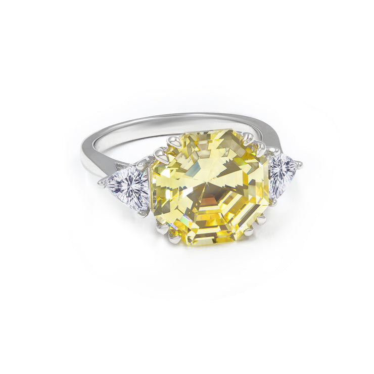 Olivia 06 Ring Canary Yellow - Anna Zuckerman Luxury Ring