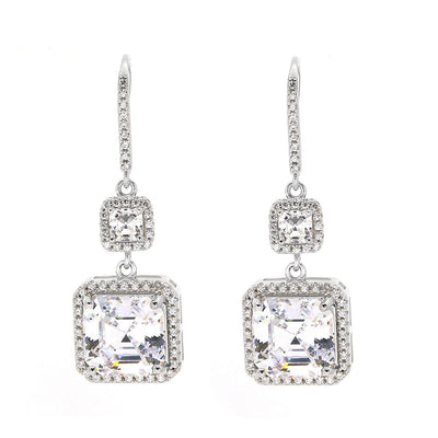 Arabella 06 Earrings Diamond White - Anna Zuckerman Luxury Earrings