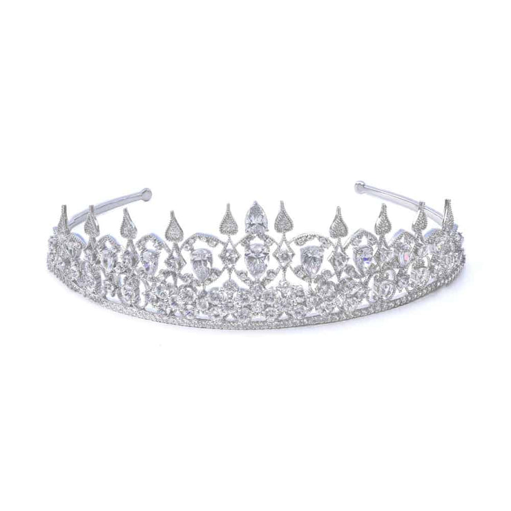 Royal 01 Tiara Collection Diamond White - Anna Zuckerman Luxury Tiara