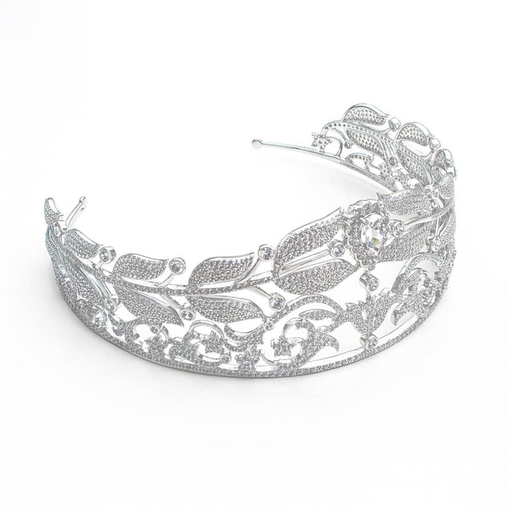 Royal 02 Tiara Collection Diamond White - Anna Zuckerman Luxury Tiara