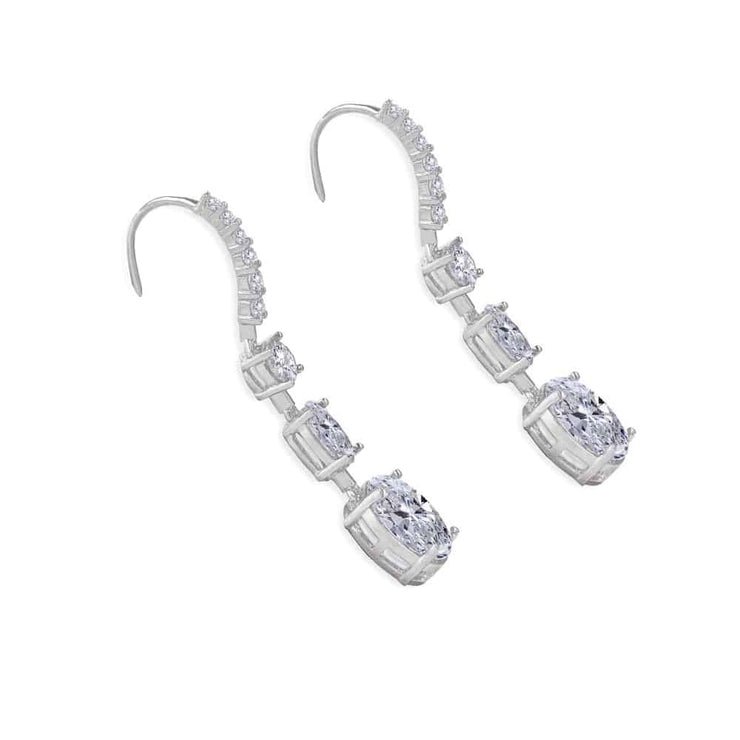 Victoria 11 Earrings Diamond White - Anna Zuckerman Luxury Earrings