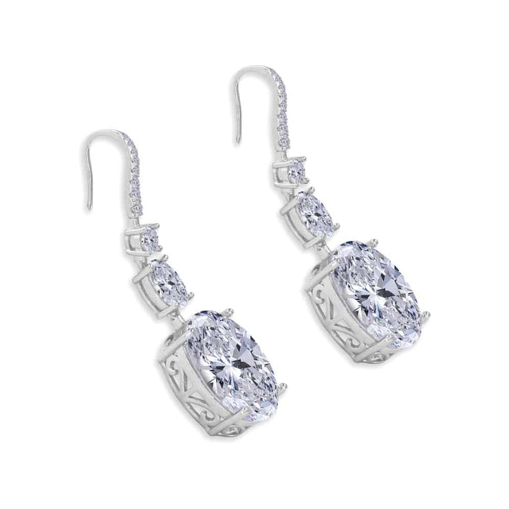 Victoria 26 Earrings Diamond White - Anna Zuckerman Luxury Earrings