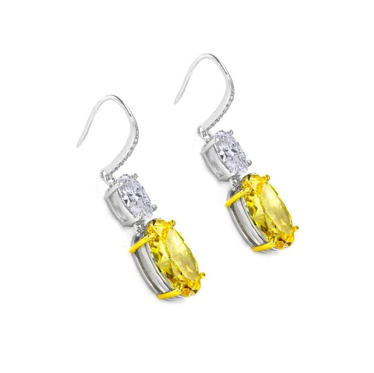 Victoria 35 Earrings Canary Yellow - Anna Zuckerman Luxury Earrings