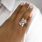 Elizabeth 02 Ring Diamond White - Anna Zuckerman Luxury