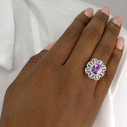 Diana 24 Ring Purple Amethyst - Anna Zuckerman Luxury