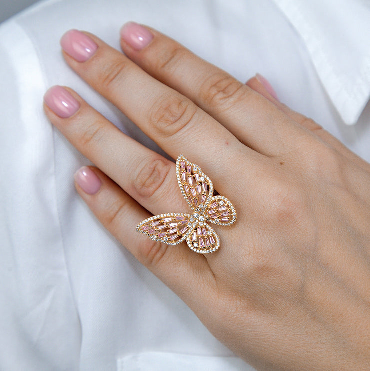 Olivia 01 Ring Argyle Pink Gold - Anna Zuckerman Luxury