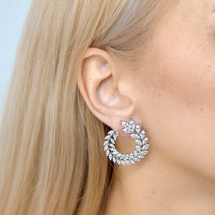 Olivia 15 Earrings Diamond White - Anna Zuckerman Luxury