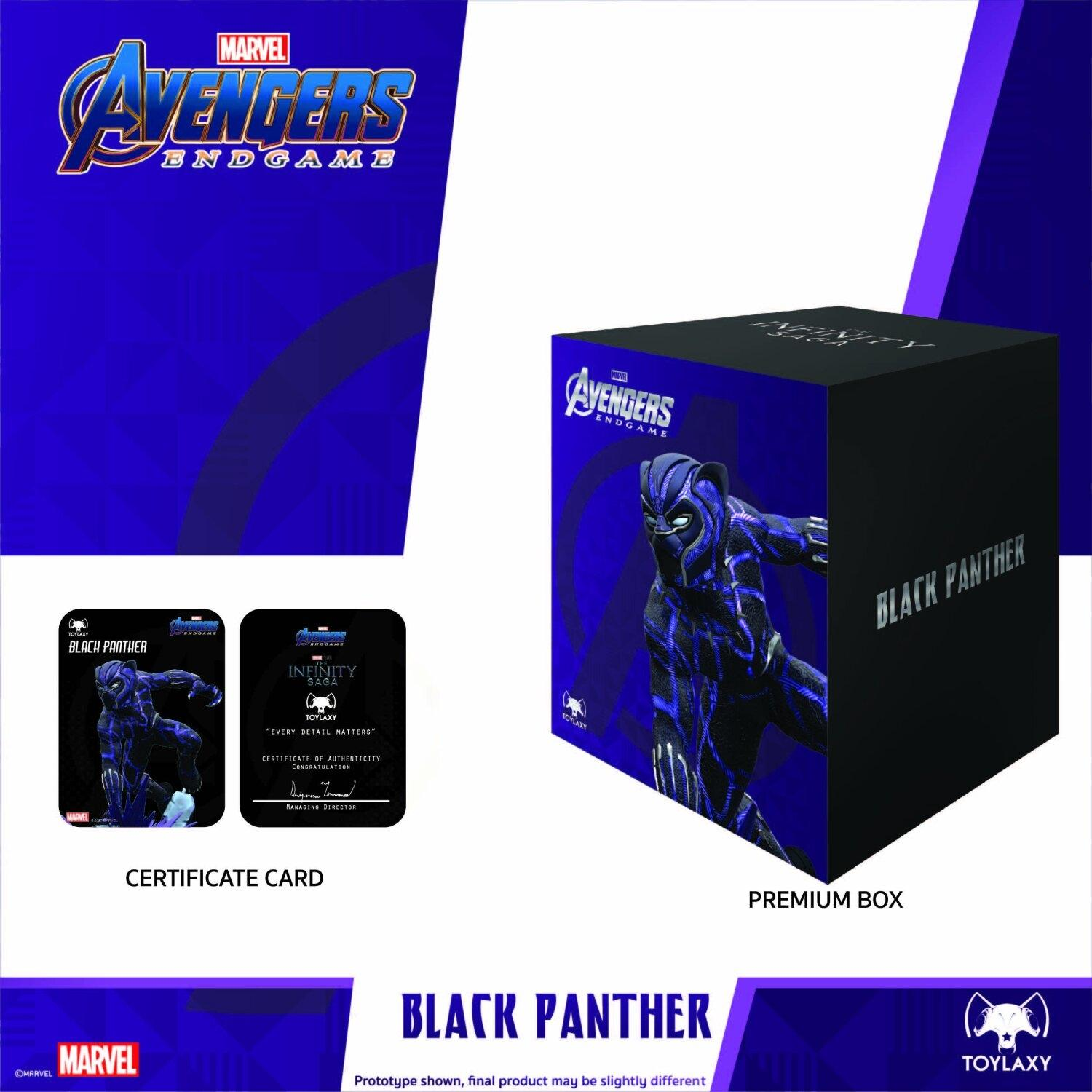 Marvel Avengers Endgame Premium PVC Black Panther Official Figure Toy packaging