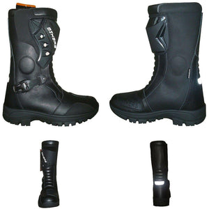 Motorcycle Waterproof Boots High Ankle Racing Road Shoes CE Armored