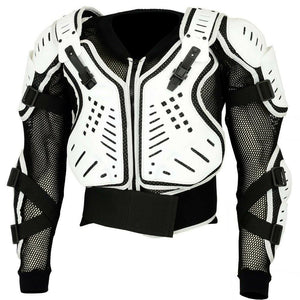 Adult White Motocross Body Armour Bikequad Protective Enduro Bionic Quad Jacket