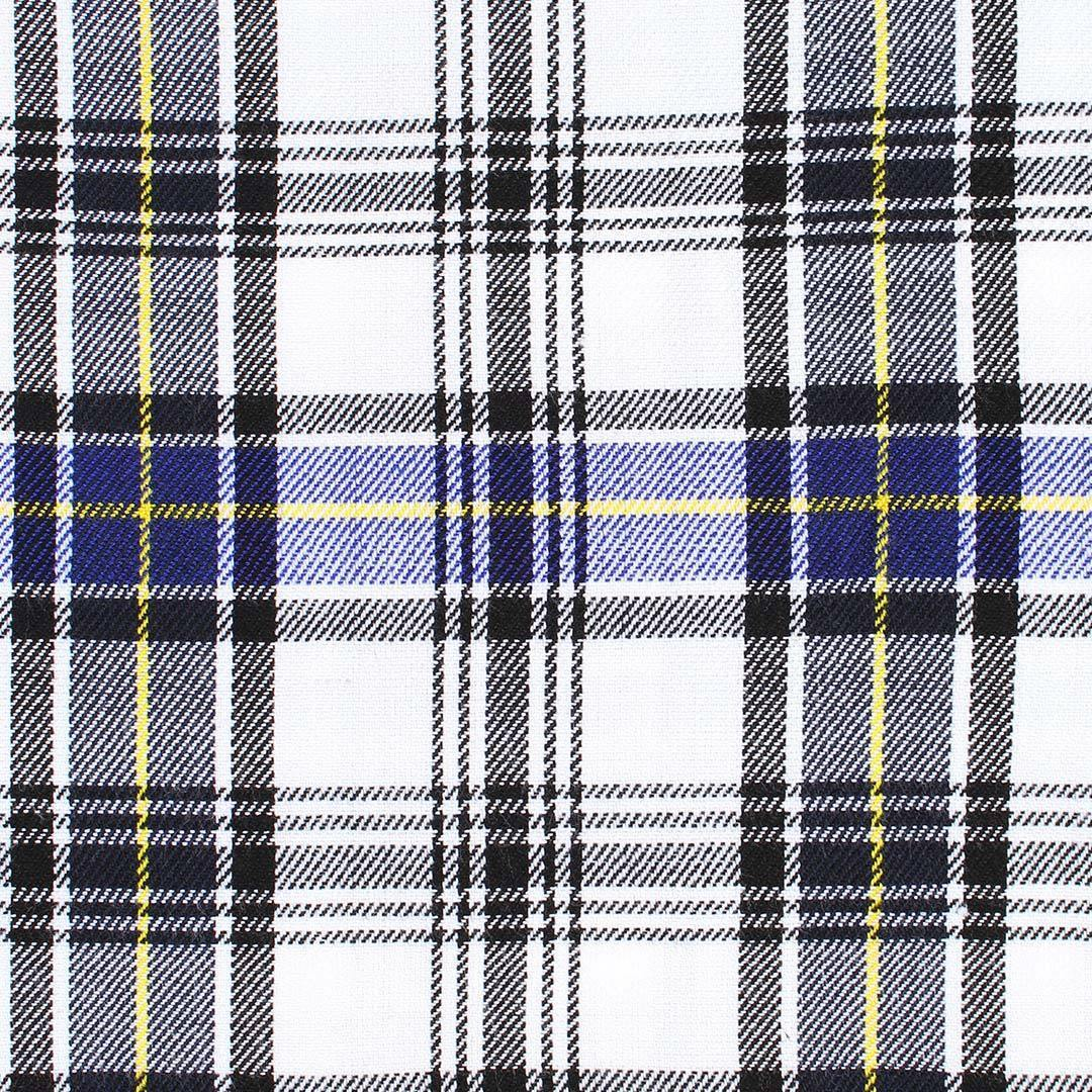 "Super Acrylic Wool 13oz Scottish Tartan Kilts 8 Yards With Box Pleats 24"" Regular Drop Fringed Apron 3 Metal Buckles Leather Straps"