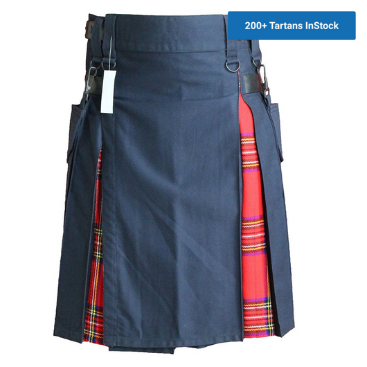 imperial-highland-supplies-navy-hybrid-kilt-with-royal-stewart-tartan-fronts