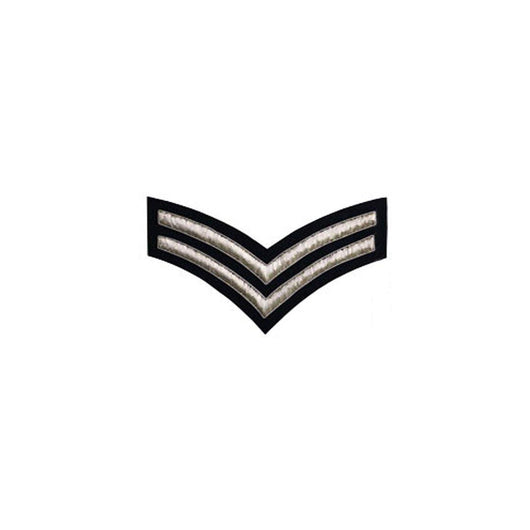 imperial-highland-supplies-2-stripe-chevron-badge-silver-bullion-on-dark-blue