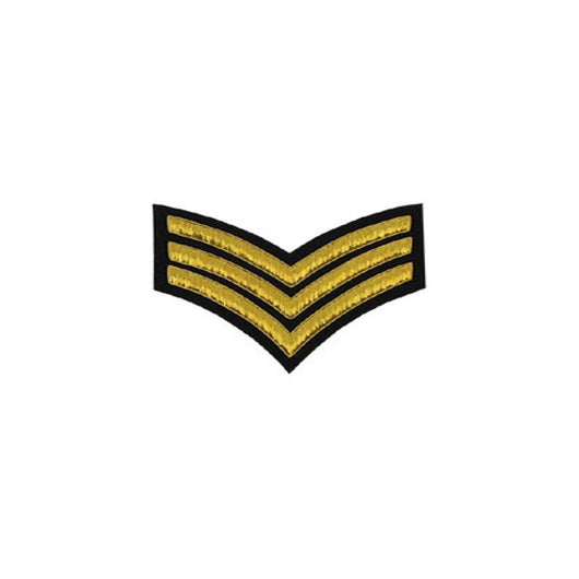 imperial-highland-supplies-3-stripes-chevron-badge-gold-bullion-on-black